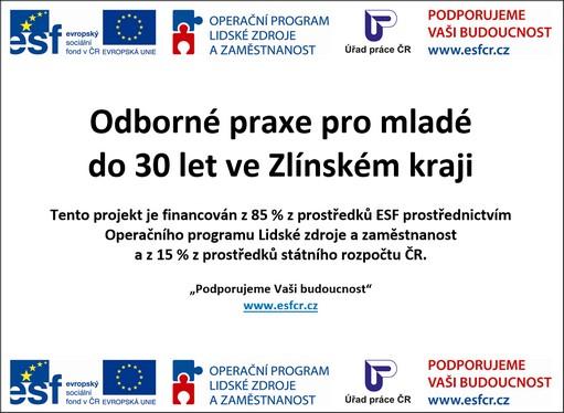 Odborné praxe pro mladé do 30 let ve Zlínském kraji